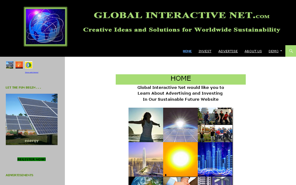 Global Interactive website by CitySites