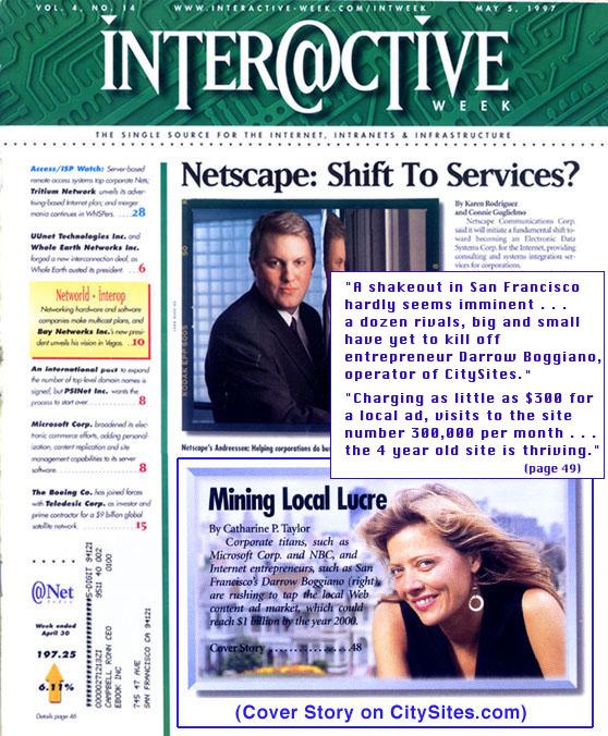 CitySites Website Development in Interactive Week Magazine